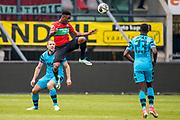 NIJMEGEN- 07-05-2017, NEC - AZ,  Stadion De Goffert, 2-1, AZ speler Ron Vlaar, NEC Nijmegen speler Kevin Mayi, AZ speler Derrick Luckassen
