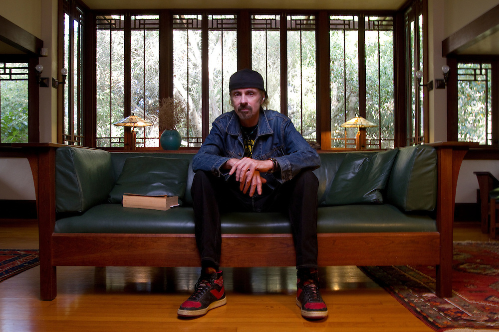"""Acclaimed author TC Boyle resides in a Frank Lloyd Wright home in Montecito, California. No publication rights provided. Please see """"Usage Rights."""""""