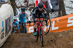 PARAJON FUENTES Maria (ESP) during Women Elite race, 2019 UCI Cyclo-cross World Cup Heusden-Zolder, Belgium, 26 December 2019.<br /> <br /> Photo by Pim Nijland / PelotonPhotos.com <br /> <br /> All photos usage must carry mandatory copyright credit (Peloton Photos | Pim Nijland)