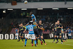 October 21, 2017 - Napoli, Napoli, Italy - Naples - Italy 21/10/2017.KALIDOU KOULIBALY of  S.S.C. NAPOLI   and JOAO MIRANDA  of  Inter  fights for the ball during Serie A  match between S.S.C. NAPOLI and Inter  at Stadio San Paolo of Naples. (Credit Image: © Emanuele Sessa/Pacific Press via ZUMA Wire)