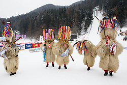 Mascots kurenti during Normal Hill Individual Competition at FIS World Cup Ski jumping Ladies Ljubno 2012, on February 11, 2012 in Ljubno ob Savinji, Slovenia. (Photo By Vid Ponikvar / Sportida.com)