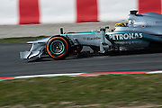 February 20, 2013 - Barcelona Spain. Lewis Hamilton, Mercedes GP Petronas F1 Team  during pre-season testing from Circuit de Catalunya.