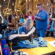 Seamstresses and artisans make their goods at the Station to Station tour, an artist-driven public art project made possible by Levi's.