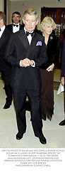 HRH The PRINCE OF WALES and MRS CAMILLA PARKER BOWLES at a dinner in London on 20th November 2002.PFL 160