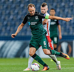 15.09.2016, Red Bull Arena, Salzburg, AUT, UEFA EL, FC Red Bull Salzburg vs FC Krasnodar, Gruppe I, 1. Runde, im Bild Andreas Granqvist (FC Krasnodar), Valon Berisha (FC Red Bull Salzburg) //during the UEFA Europa League, group I, 1st round match between FC Red Bull Salzburg and FC Krasnodar at the Red Bull Arena in Salzburg, Austria on 2016/09/15. EXPA Pictures © 2016, PhotoCredit: EXPA/ JFK