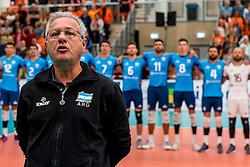 08-09-2018 NED: Netherlands - Argentina, Ede<br /> Second match of Gelderland Cup / Julio Velasco of Argentina