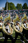 18454.Members of the Marching 110 perform before the homecoming game against Eastern Michigan on Saturday, October 13, 2007 at Peden Stadium in Athens, Ohio..Photo by Kevin Riddell