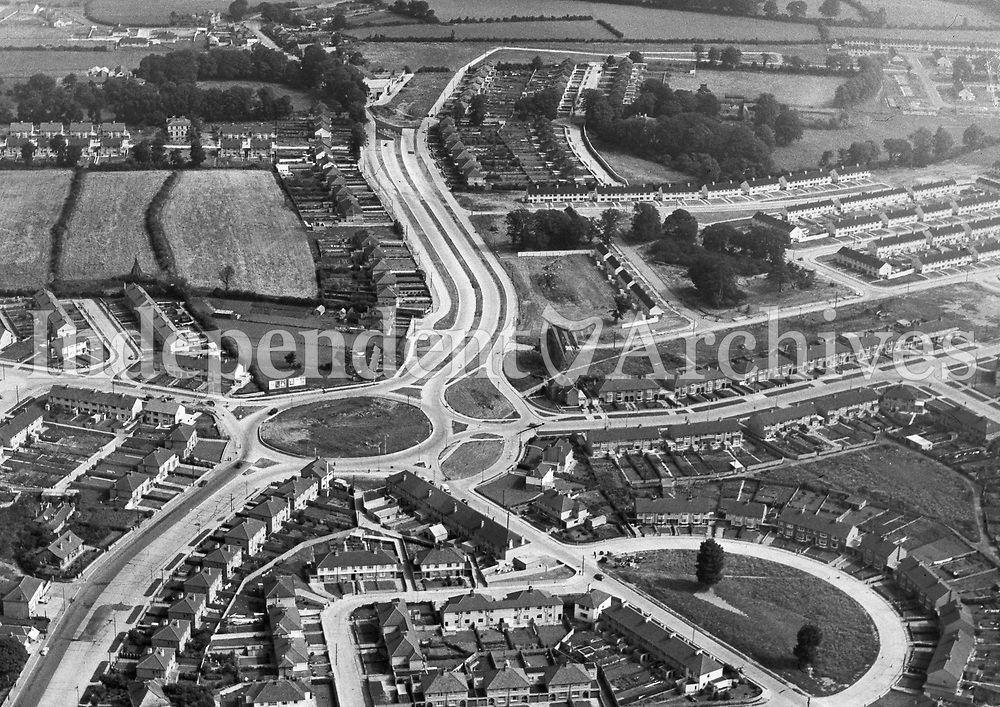 (Part of the Independent Newspapers Ireland/NLI collection.)<br /> Aerial view of Artane 8/8/1957