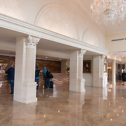 DORAL, FLORIDA, JANUARY 10, 2018<br /> The main entrance to the reception desk at the Trump National Doral Miami. No photos of President Donald J. Trump visible.<br /> (Photo by Angel Valentin/Freelance)