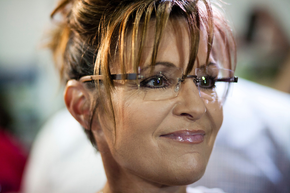 Former Alaska governor Sarah Palin attends the Iowa State Fair on Friday, August 12, 2011 in Des Moines, IA.