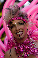 SAN FRANCISCO, CA - JUNE 24 : Kimberly Givsan gets ready to take part in the 37th annual LBGT Pride Parade on June 24, 2007 in San Francisco, California. Hundreds of thousands of people lined the streets of San Francisco to watch and take part in the parade.  (Photograph by David Paul Morris)