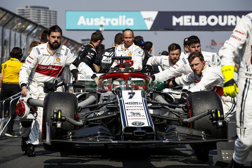 March 17, 2019 - Melbourne, Australia - Motorsports: FIA Formula One World Championship 2019, Grand Prix of Australia, ..#7 Kimi Raikkonen (FIN, Alfa Romeo Racing) (Credit Image: © Hoch Zwei via ZUMA Wire)