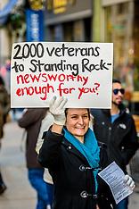 NYC: No DAPL Activists demand end to media silence, 4 Dec. 2016