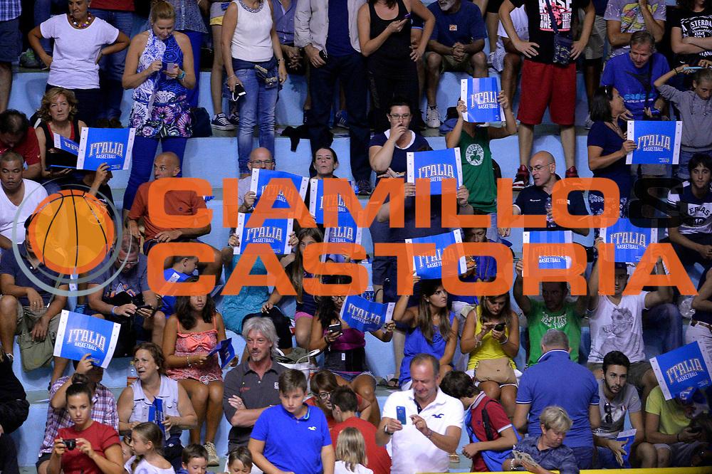 DESCRIZIONE : Cagliari Qualificazione Eurobasket 2015 Qualifying Round Eurobasket 2015 Italia Svizzera Italy Switzerland<br /> GIOCATORE : Tifosi<br /> CATEGORIA : Tifosi<br /> EVENTO : Cagliari Qualificazione Eurobasket 2015 Qualifying Round Eurobasket 2015 Italia Svizzera Italy Switzerland<br /> GARA : Italia Svizzera Italy Switzerland<br /> DATA : 17/08/2014<br /> SPORT : Pallacanestro<br /> AUTORE : Agenzia Ciamillo-Castoria/GiulioCiamillo<br /> Galleria: Fip Nazionali 2014<br /> Fotonotizia: Cagliari Qualificazione Eurobasket 2015 Qualifying Round Eurobasket 2015 Italia Svizzera Italy Switzerland<br /> Predefinita :