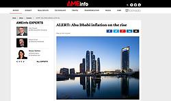 AMEinfo, UAE; skyline of Abu Dhabi at night