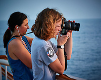 Sunrise Photography Club on the aft deck of the MV World Odyssey. Image taken with a Nikon 1 V3 camera and 70-300 mm lens (ISO 160, 70 mm, f/4.5, 1/80 sec).