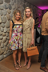 Left to right, HOFIT GOLAN and NOELLE RENO at a party to celebrate the announcement of the 20 shortlisted designers for the UK final of the Triumph Inspiration Award 2011 held at the home of Charlotte Stockdale, 8 Francis Street, London SW1 on 31st March 2011.