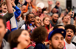Bristol Flyers fans react  - Photo mandatory by-line: Joe Meredith/JMP - 18/11/2016 - BASKETBALL - SGS Wise Arena - Bristol, England - Bristol Flyers v Surrey Scorchers - British Basketball League