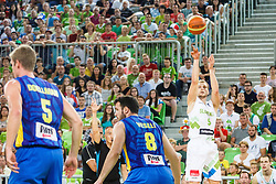 Jaka Blazic of Slovenia during qualifying match between Slovenia and Kosovo for European basketball championship 2017,  Arena Stozice, Ljubljana on 31th August, Slovenia. Photo by Grega Valancic / Sportida