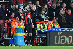 Bournemouth Manager Eddie Howe calms down Harry Arter of Bournemouth - Mandatory by-line: Jason Brown/JMP - Mobile 07966 386802 12/12/2015 - SPORT - FOOTBALL - Bournemouth, Vitality Stadium - AFC Bournemouth v Manchester United - Barclays Premier League