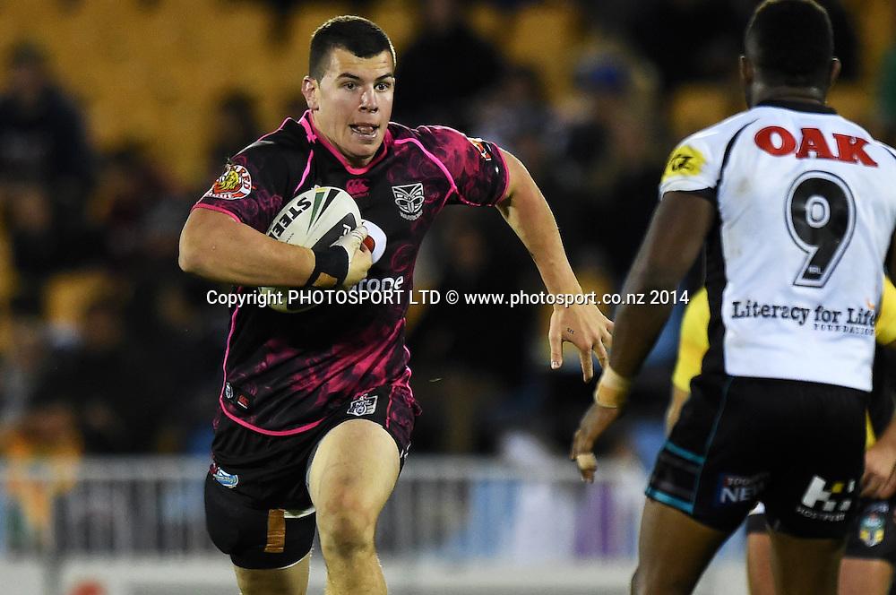 Charlie Gubb. Vodafone Warriors v Penrith Panthers. NRL Rugby League. Mt Smart Stadium, Auckland, New Zealand. Sunday 29 June 2014. Photo: Andrew Cornaga/www.Photosport.co.nz
