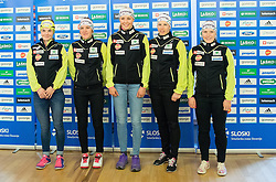 Alenka Cebasek, Lea Einfalt, Ana Marija Lampic, Vesna Fabjan and Nika Razinger during official presentation of the outfits of the Slovenian Ski Teams before new season 2015/16, on October 6, 2015 in Kulinarika Jezersek, Sora, Slovenia. Photo by Vid Ponikvar / Sportida