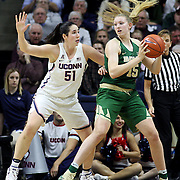 STORRS, CONNECTICUT- NOVEMBER 17: Lauren Cox #15 of the Baylor Bears is defended by Natalie Butler #51 of the UConn Huskies during the UConn Huskies Vs Baylor Bears NCAA Women's Basketball game at Gampel Pavilion, on November 17th, 2016 in Storrs, Connecticut. (Photo by Tim Clayton/Corbis via Getty Images)