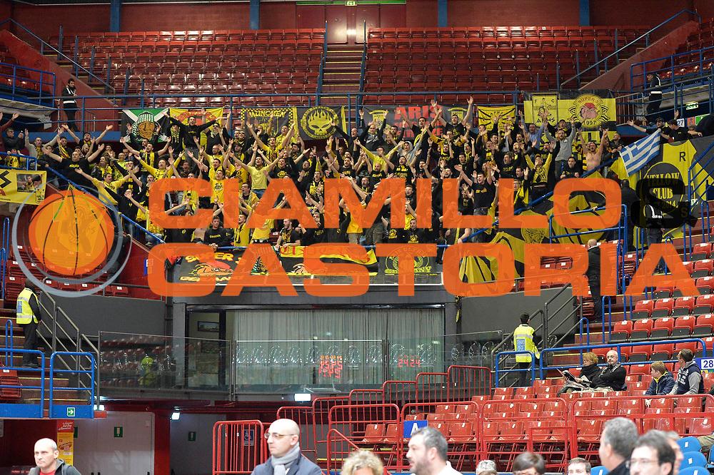 MILANO 12.01.2016<br /> Milano Aris Salonicco<br /> NELLA FOTO: Tifosi Aris Salonicco<br /> FOTO CIAMILLO