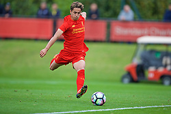 KIRKBY, ENGLAND - Saturday, September 24, 2016: Liverpool's Yan Dhanda scores the first equalising goal against Everton during the Under-18 FA Premier League match at the Kirkby Academy. (Pic by David Rawcliffe/Propaganda)