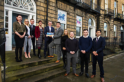 Pictured: Laura Peackock, Investors in your people, John Moran, managing director, Jamie Hepburn, met some of the young staff of Grant Properties.<br />