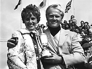 Picture Credit: &copy;Visions In Golf/Michael Hobbs<br /> <br /> JACK NICKLAUS WINS THE OPEN CHAMPIONSHIP 1970<br /> PICTURED WITH HIS WIFE BARBARA and trophy