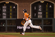 San Francisco Giants catcher Buster Posey (28) rounds the bases after hitting a home run against the St. Louis Cardinals at AT&T Park in San Francisco, Calif., on September 16, 2016. (Stan Olszewski/Special to S.F. Examiner)