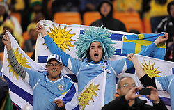 Uruguay fans during the 2010 FIFA World Cup South Africa Quarter Final match between Uruguay and Ghana at the Soccer City stadium on July 2, 2010 in Johannesburg, South Africa.