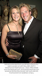 MISS KINVARA BALFOUR and MR BEN FOGLE at a ball in London on 24th May 2001.OOP 3