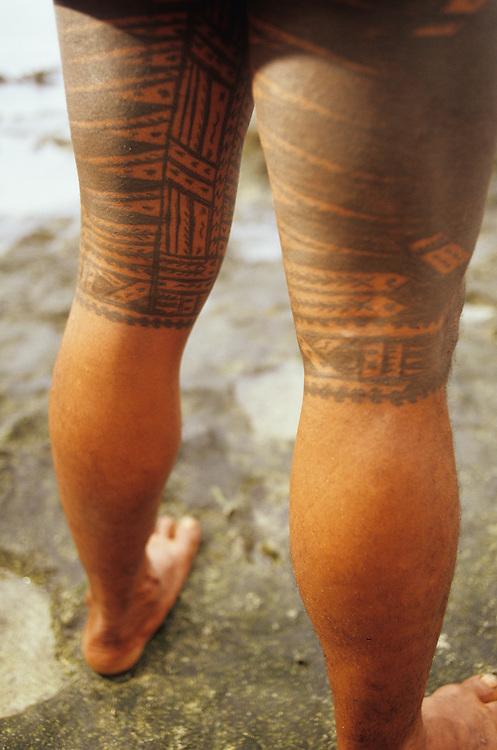 Western Samoa, tatooed male