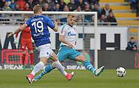 v.l. Felix Platte (Darmstadt), Johannes Geis<br /> Darmstadt, 16.04.2017, Fussball Bundesliga, SV Darmstadt 98 - FC Schalke 04 2:1<br /> <br /> Norway only