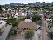 Drone aerial real estate photography in Scottsdale, Arizona