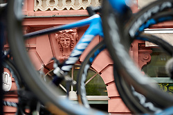 The buildings of Gotha admire Movistar Women's Team bikes at Lotto Thüringen Ladies Tour 2019 - Stage 4, a 114.8 km road race in Gotha, Germany on May 31, 2019. Photo by Sean Robinson/velofocus.com