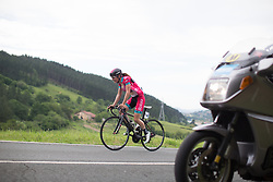 Femke Verstichelen (BEL) of Bizkaia-Durango Cycling Team rides at the front in the fourth lap of the Durango-Durango Emakumeen Saria - a 113 km road race, starting and finishing in Durango on May 16, 2017, in the Basque Country, Spain.