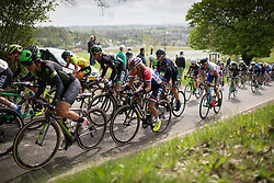 The peloton climbs on the Eyserbergweg during the Amstel Gold Race Ladies Edition - a 121.6 km road race, between  Maastricht and Valkenburg on April 16, 2017, in Limburg, Netherlands.