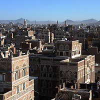 Sanaa, capitale du Yemen..Sanaa, the capital of Yemen