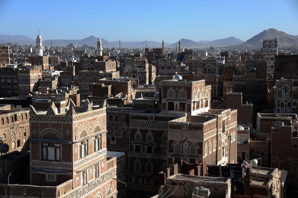 Sanaa, capitale du Yemen..Sanaa, the capital of Yemen
