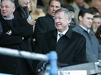 Photo: Lee Earle.<br /> Portsmouth v Charlton Athletic. The Barclays Premiership. 20/01/2007. Manchester United manager Sir Alex Ferguson watched the game.