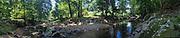Panoramic photograph of creek in highland county va.