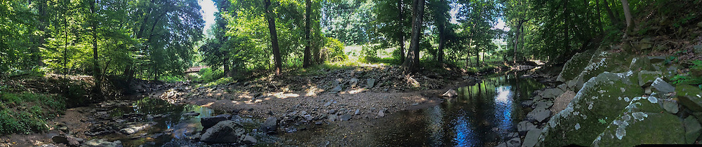 Panoramic photograph of creek in highland county va.
