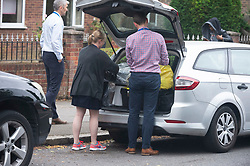 © Licensed to London News Pictures. 19/07/2019.<br /> Beckenham ,UK. Police take evidence away. Police have launched a murder investigation after the body of a woman was found at a residential address in Beckenham, South East London. Police were called on Thursday 18th July. She was pronounced dead at the scene.  Photo credit: Grant Falvey/LNP