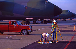 Surveyors at Military Transport Base