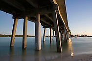 The Longboat Pass Bridge looking south towards Longboat Key from Coquina Beach on the southernmost point of Anna Maria Island.