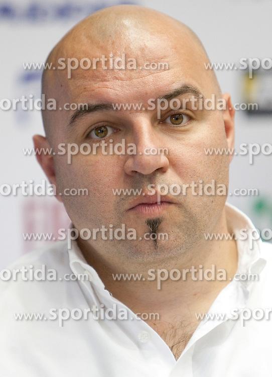 Milan Erzen, coach of KK Adria Mobil at press conference of Pro Cycling Team Adria Mobil Novo mesto before new season, on March 8, 2011 at ACH, Ljubljana, Slovenia. (Photo By Vid Ponikvar / Sportida.com)