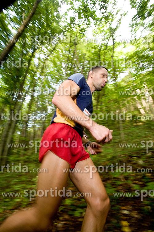 Runner at the 30th Smarna Gora Mountain running race as the final race of WMRA GRAND PRIX and Slovenian mountain running cup, on October 3, 2009, Smarna Gora, Ljubljana, Slovenija. (Photo by Vid Ponikvar / Sportida)
